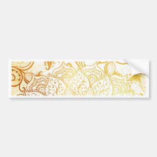 Mandala - Golden brush Bumper Sticker
