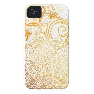 Mandala - Golden brush Case-Mate iPhone 4 Cases