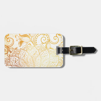 Mandala - Golden brush Luggage Tag