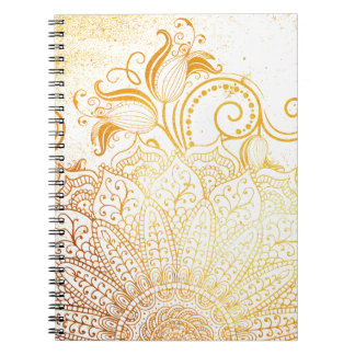 Mandala - Golden brush Notebooks