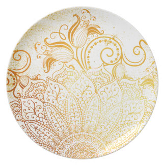 Mandala - Golden brush Plate
