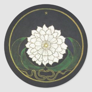 Mandala Golden Flower Classic Round Sticker