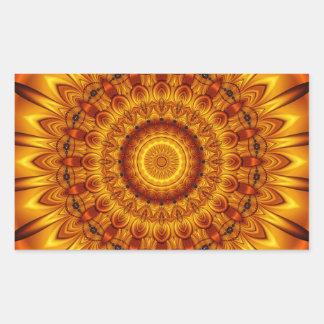 mandala golden sun sticker