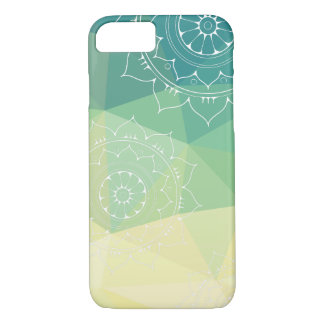 Mandala green yellow geometric iPhone 8/7 case