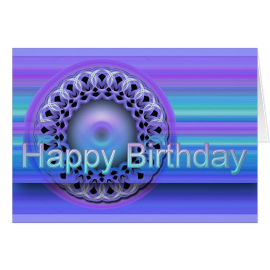 Mandala Happy Birthday card