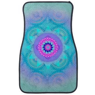 Mandala ID129 de turquoise de fleur de Lotus Tapis De Sol