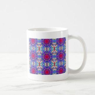Mandala In Blue And Fuchsia - Tiled Coffee Mug