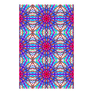 Mandala In Blue And Fuchsia - Tiled Stationery Design