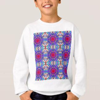 Mandala In Blue And Fuchsia - Tiled Sweatshirt