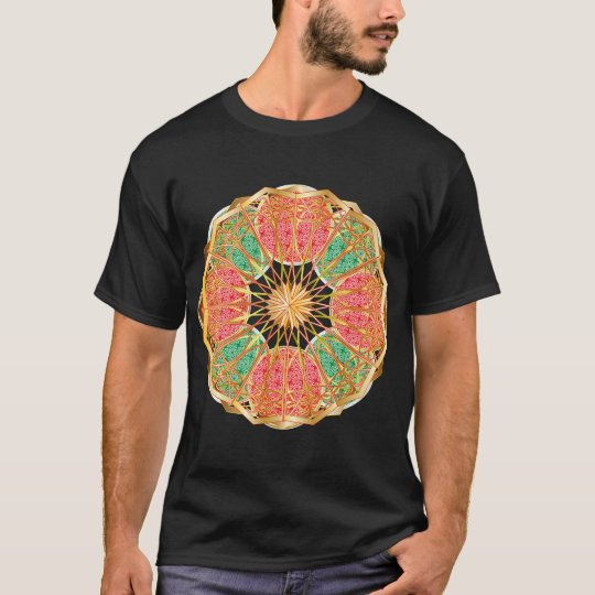 Mandala In Brass And Gold T-Shirt