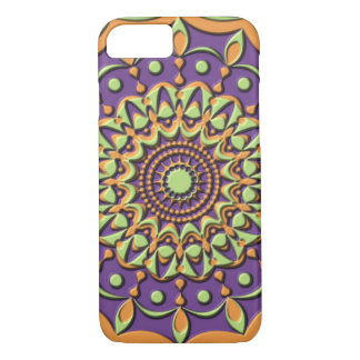 Mandala in Faux-Plastic Relief iPhone 7 Case
