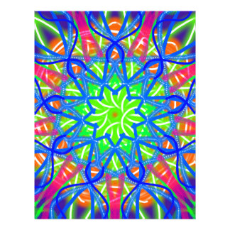 Mandala In Green And Blue Personalized Letterhead
