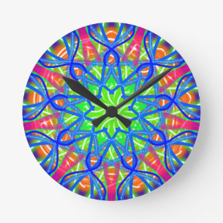 Mandala In Green And Blue Wall Clock