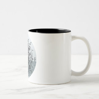 Mandala in Jeju Two-Tone Coffee Mug