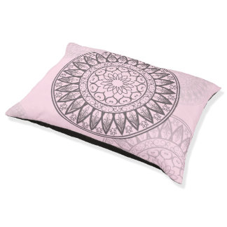 Mandala in Pink Large Dog Bed