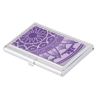 Mandala in Purple Business Card Holder