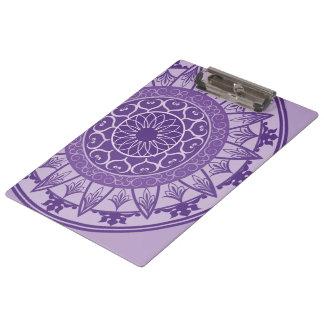 Mandala in Purple Clipboard