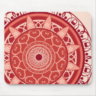 Mandala in Red Mouse Pad