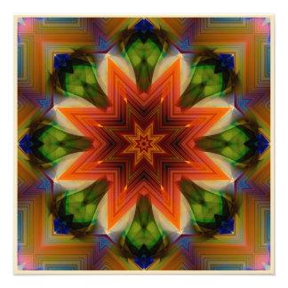Mandala in Rust Colors Photo Print