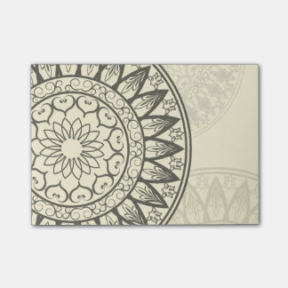 Mandala in Soft Yellow Post-it Notes