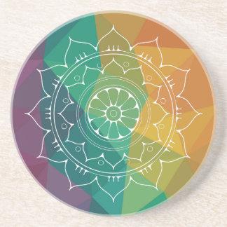 Mandala india flower modern geometric ombre design coaster