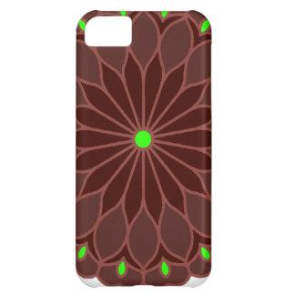 Mandala Inspired Burgundy Wine Flower iPhone 5C Cases