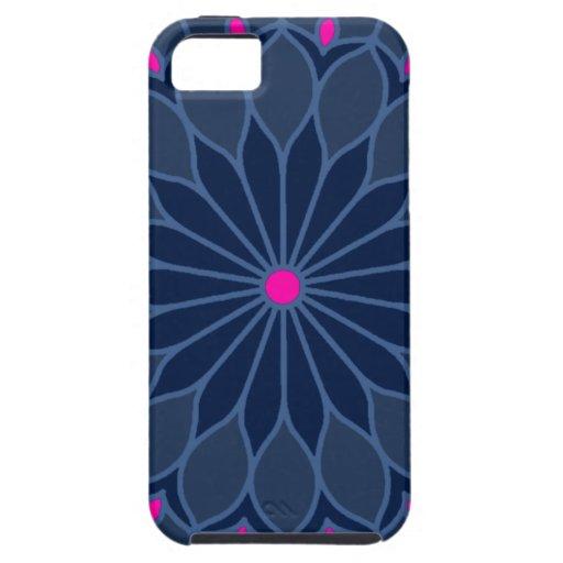 Mandala Inspired Dark Blue Flower iPhone 5 Cover