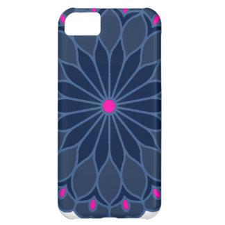 Mandala Inspired Dark Blue Flower Cover For iPhone 5C