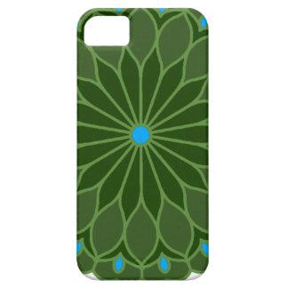 Mandala Inspired Hunter Green Flower Case For The iPhone 5