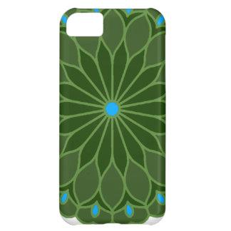 Mandala Inspired Hunter Green Flower iPhone 5C Case