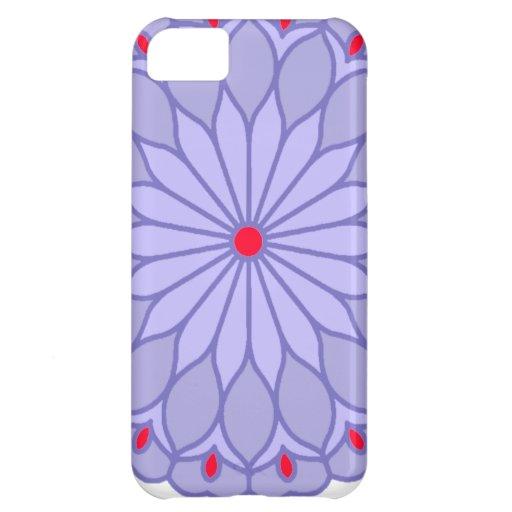 Mandala Inspired Lavender Flower Case For iPhone 5C