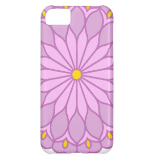Mandala Inspired Lilac Pink Flower iPhone 5C Cover