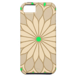 Mandala Inspired Pale Beige Flower Case For The iPhone 5