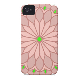 Mandala Inspired Pale Pink Flower iPhone 4 Cover