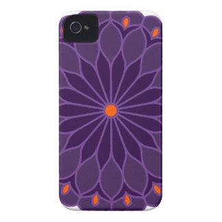 Mandala Inspired Purple Flower Case-Mate iPhone 4 Case