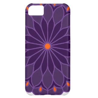 Mandala Inspired Purple Flower Case For iPhone 5C