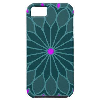 Mandala Inspired Teal Blue Flower iPhone 5 Case