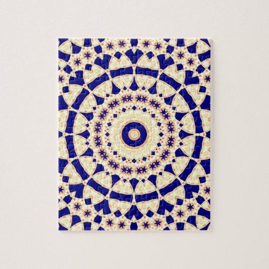 Mandala Kaleidoscope Actec Pattern Psychedelic Goa Jigsaw Puzzle