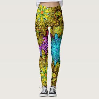 Mandala kaleidoscope printed leggings