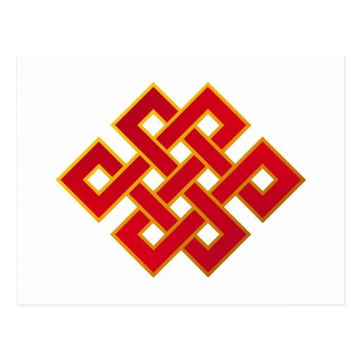 Mandala Karma Buddhism Eternal Knot Post Card