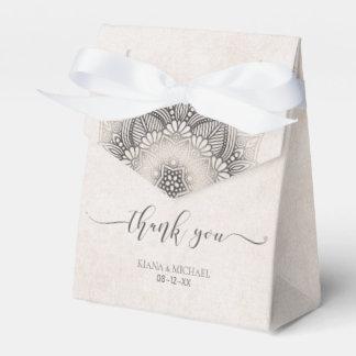 Mandala Lace Wedding Favors Neutrals ID478 Favor Box