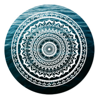 Mandala Let sea set you free Birthday Card