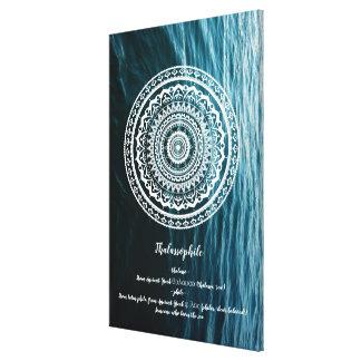 Mandala Let sea set you free Canvas Print