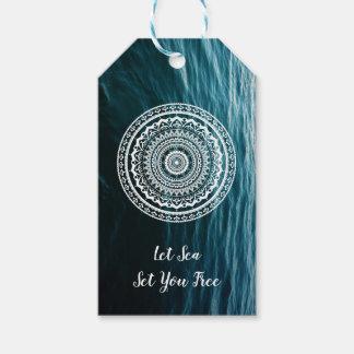 Mandala Let sea set you free Gift Tags
