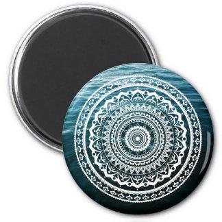 Mandala Let sea set you free Magnet