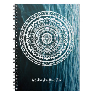 Mandala Let sea set you free Notebooks