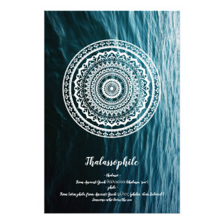 Mandala Let sea set you free Photo Print