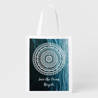 Mandala Let sea set you free Reusable Grocery Bag