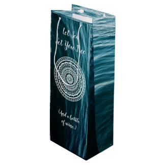 Mandala Let sea set you free Wine Gift Bag