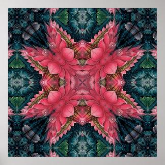 Mandala 'Lotus' Poster